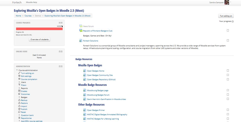 Exploring Mozilla's Open Badges in Moodle 2.5 (Moot)<br><em>Moodle Samples</em>