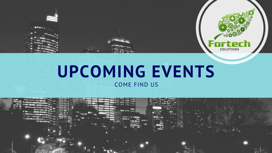 Fortech Solutions upcoming events for 2018. Moodle, Devlearn, atd, Capital Region, Indo Expo, CPUC, Left Coast Green,